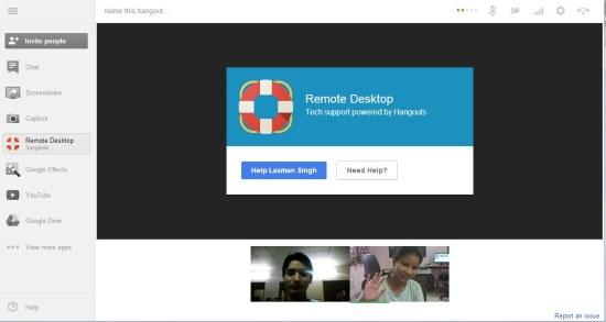 hangouts remote desktop tech support