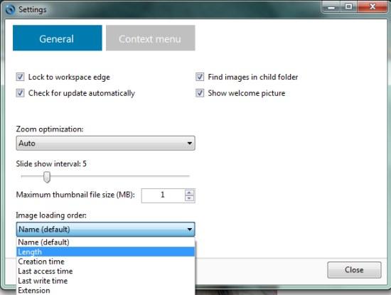 imageglass options