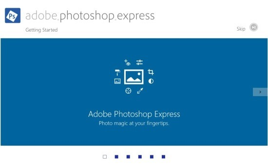 introduction Adobe Photoshop Express For Windows 8
