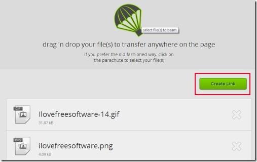 justbeamit 02 free large file transfer