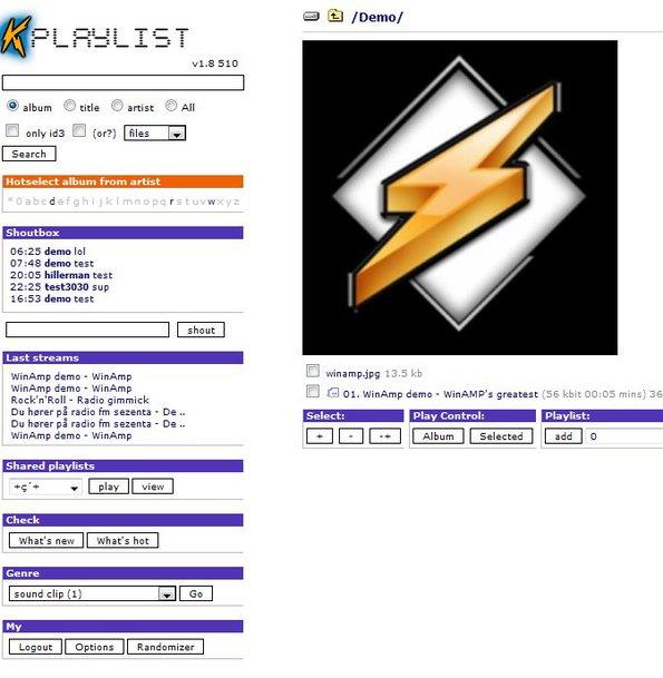 kPlaylist free music database default window