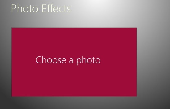 load picture Windows 8 Photo Effects