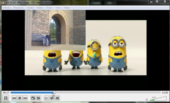 pic in pic effect output video