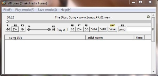Free Audio Player To Play MP3, WMA, M4A, WAV File, Adjust