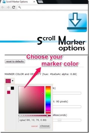 scroll marker color