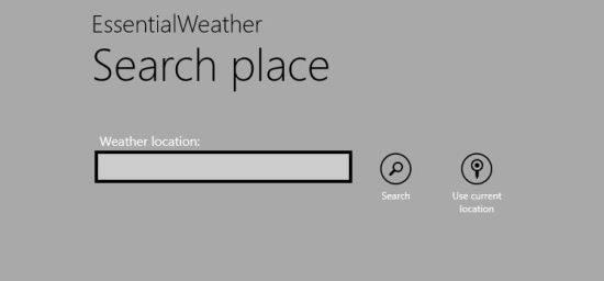 search location Windows 8 Weather app