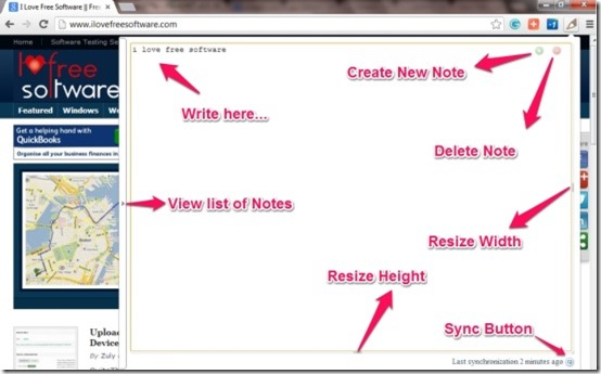 simple notepad description page