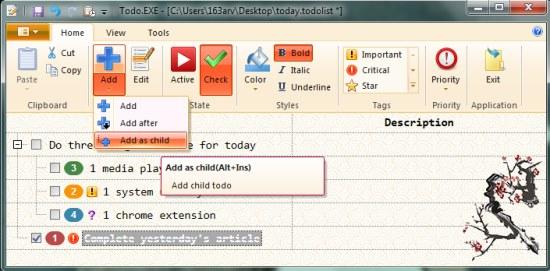 todo.exe add tasks