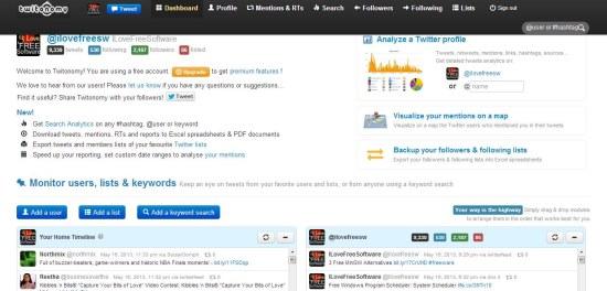 twitonomy dashboard
