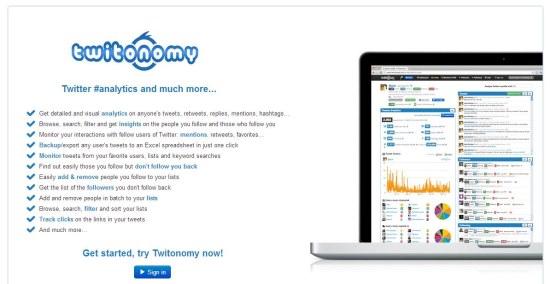 twitonomy interface