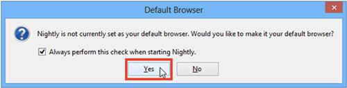 Make default browser