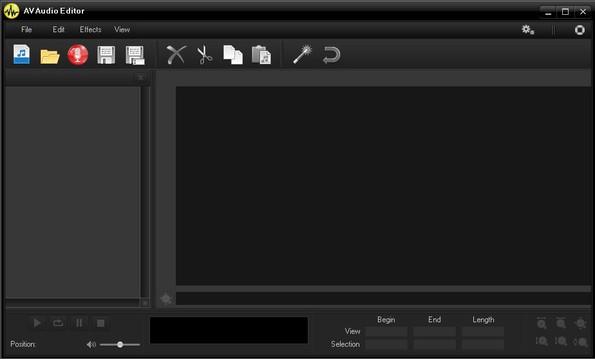 AV Audio Editor default window