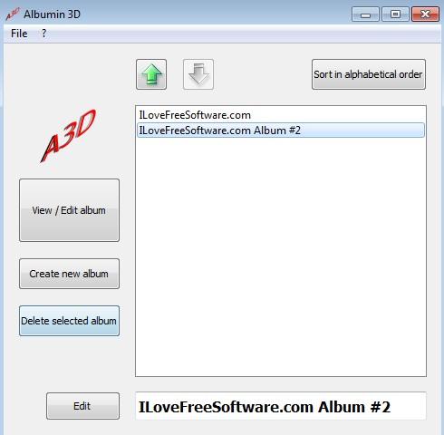 Albium 3D created albums