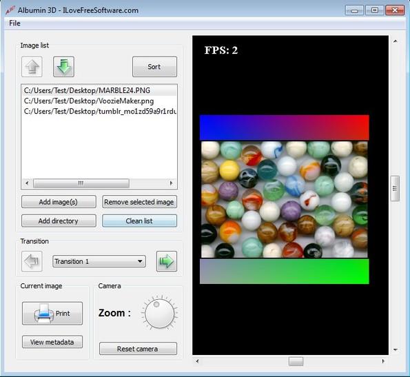 Albumin 3D adding images
