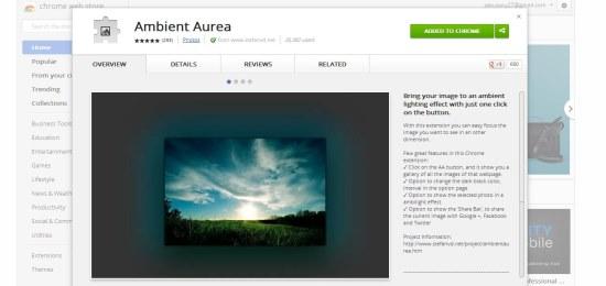 Ambient Aurea interface