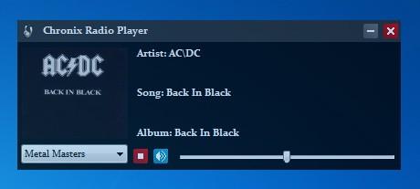 Chronix Radio Player default window