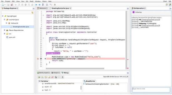 Codenvy IDE programming
