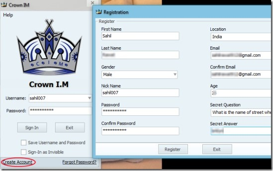 Crown IM 02 free instant messenger