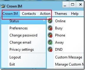 Crown IM 03 free instant messenger