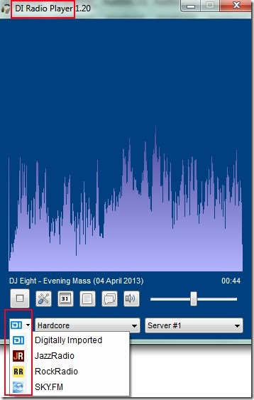 DI Radio Player application 01