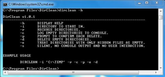 DirClean help
