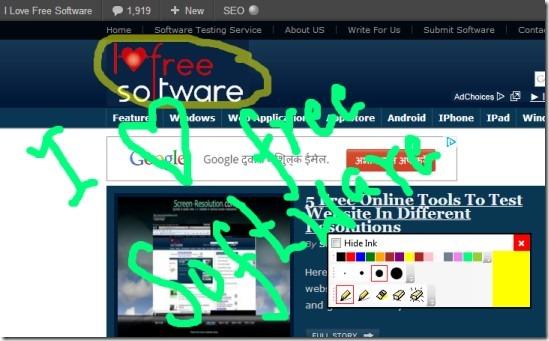 Epic Pen 01 draw on desktop screen
