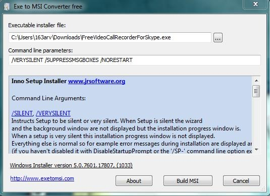 Exe to Msi Converter Free file conversion