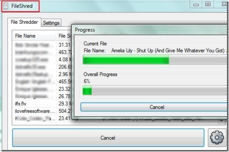 FileShred 01 free software for shredding files