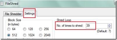 FileShred 03 free software for shredding files