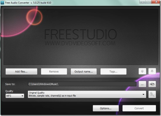 Free Audio Converter 01 convert audio files to mp3