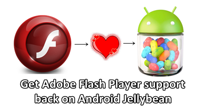 Get flash player support on android jellybean
