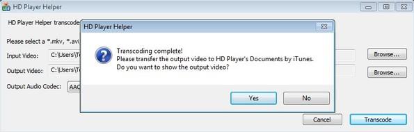 HD Player Helper conversion complete