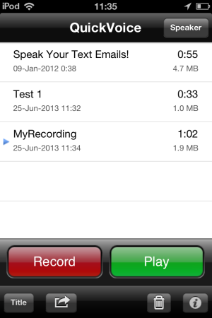 QuickVoice® Recorder-voice recorder for iPhone, iPod and iPad