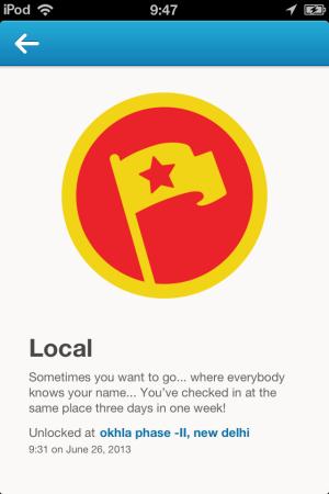 Foursquare-be a local-new foursquare
