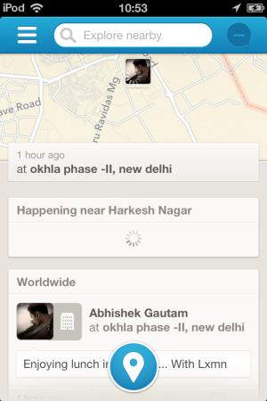 Foursquare 6.2.2-your check-in -New Foursqaure