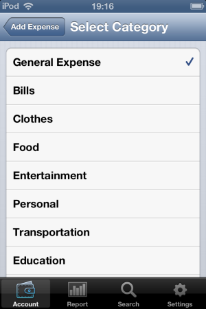 iSPending-add to categories-Expense tracker