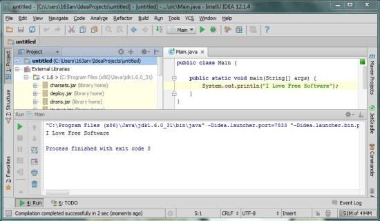 IntelliJ IDEA Community Edition interface