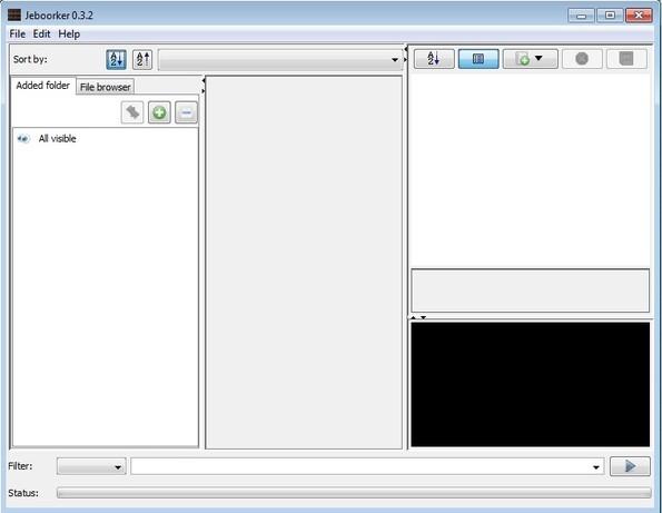 Jeboorker default window