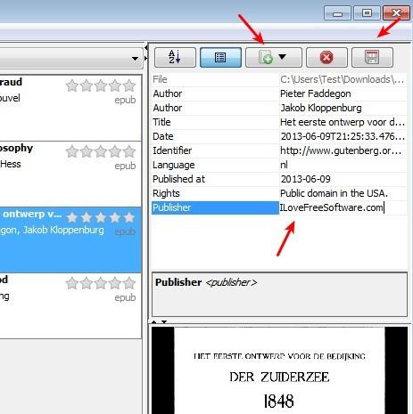 Jeboorker editing metadata