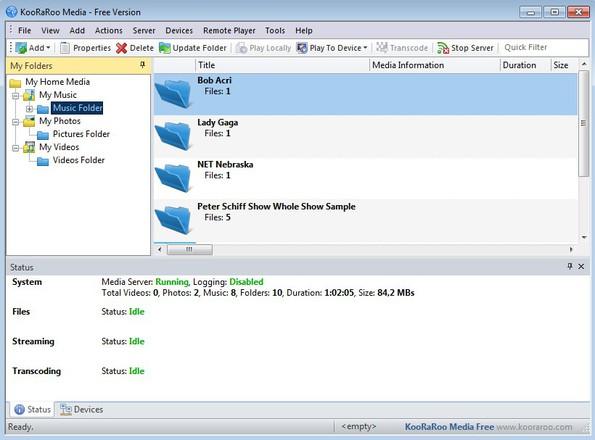 KooRaRoo Media default window