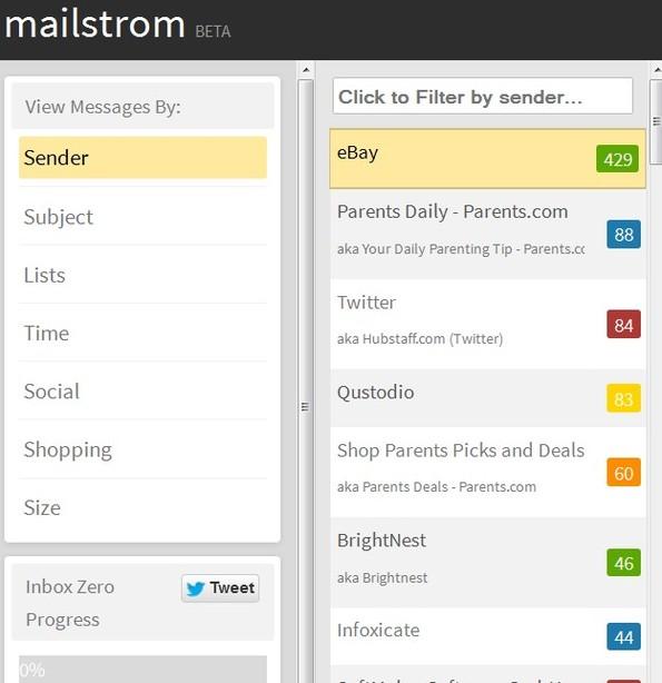 Mailstrom default window