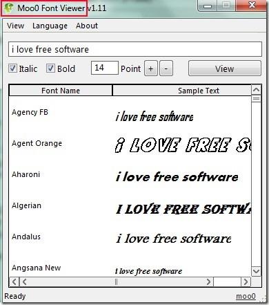 Moo0 Font Viewer 01