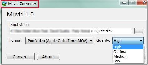 Muvid Converter 01 free video file converter