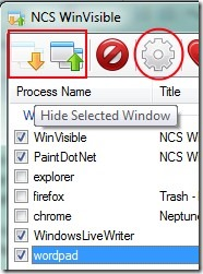 NCS WinVisible 02 free software to hide application