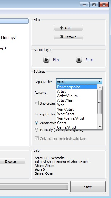 NeatMP3 orgnizing songs