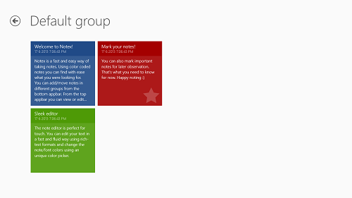 Notex group view