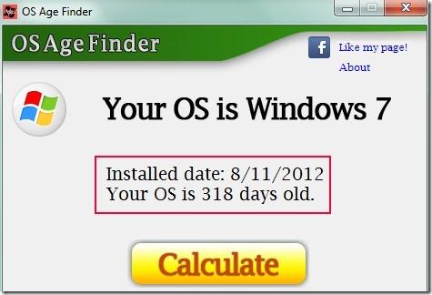 OS Age Finder 01 find OS installation date