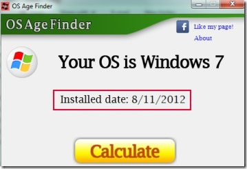 OS Age Finder 02 find OS installation date