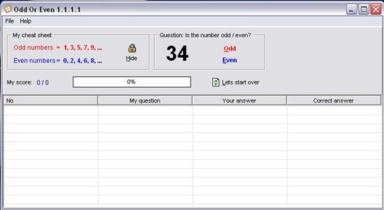 OddOrEven interface
