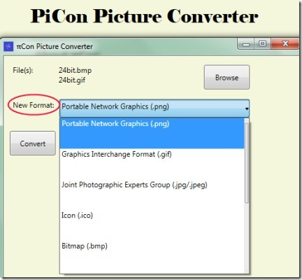 PiCon Picture Converter 02 convert images to jpg